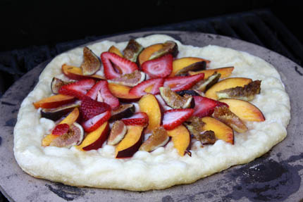 sweet grilled pizza
