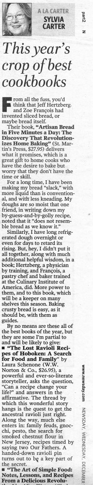 Newsday Review of Artisan Bread in Five