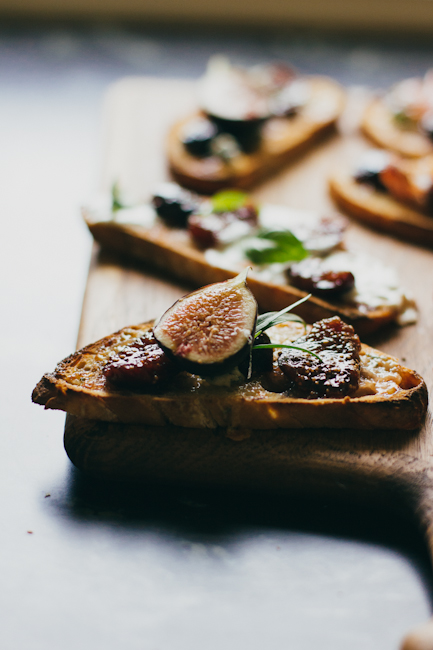 bruschetta with fig compote | bread in 5