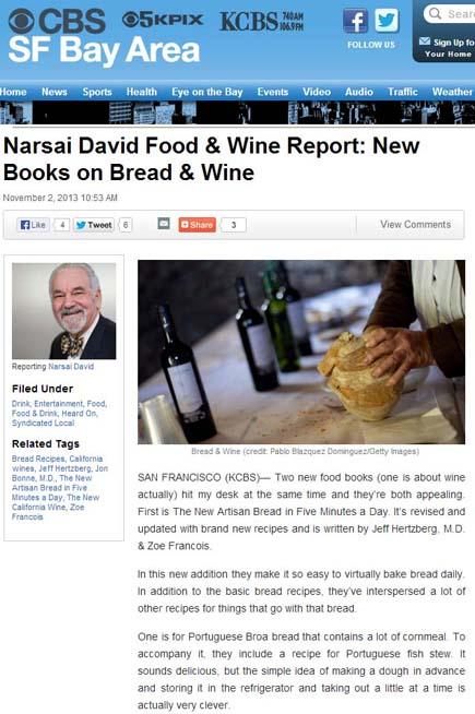 2013-11, CBS San Fran blogpost, Narsai David