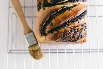 braided chocolate and cacao nib bread | bread in 5