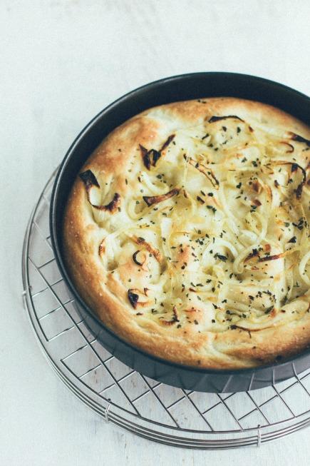 rosemary + onion focaccia   bread in 5