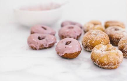 spelt doughnuts with blood orange glaze | bread in 5